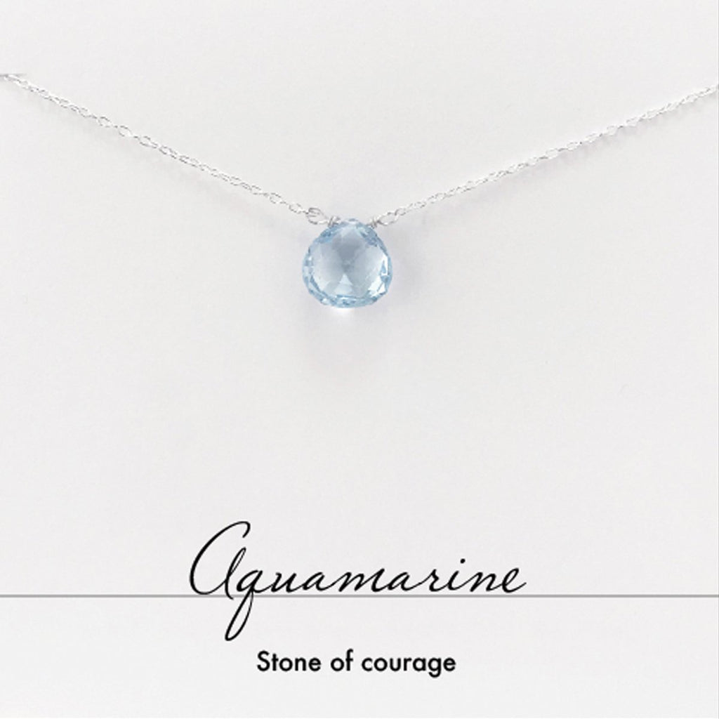 Aquamarine Heart Necklace