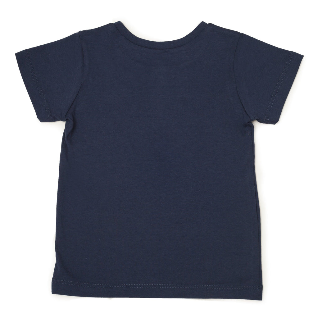 Me Do. Learn-to-Dress Navy Tee Shirt Back