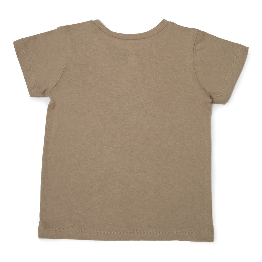 Me Do. Learn-to-Dress Tan Tee Shirt Back