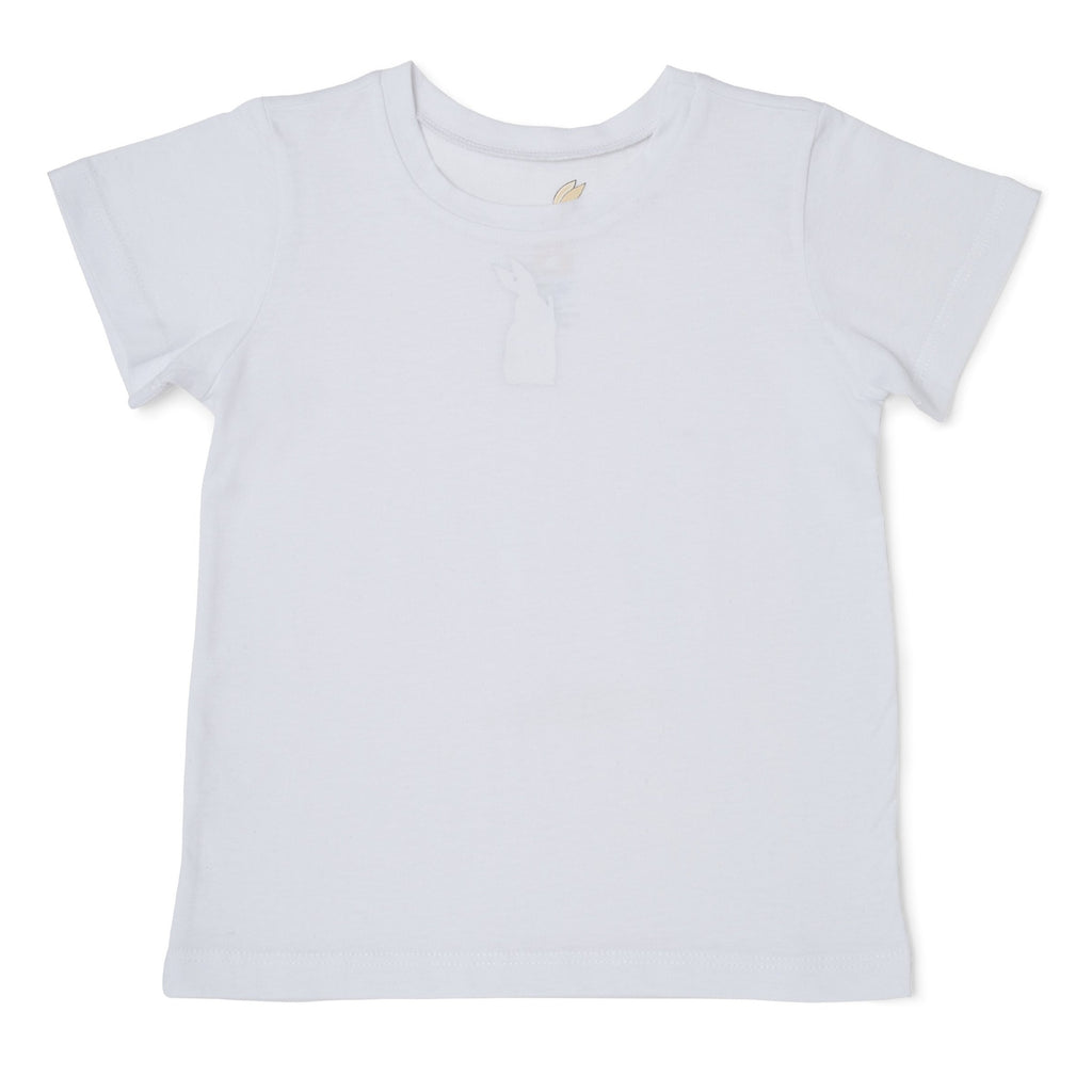 Me Do. Learn-to-Dress White Tee Shirt Front