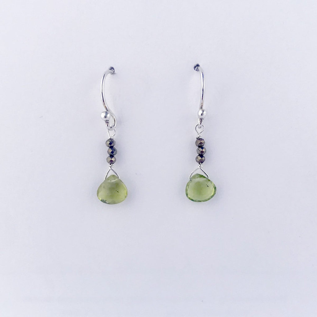 August Birthstone Silver Raindrop Earrings