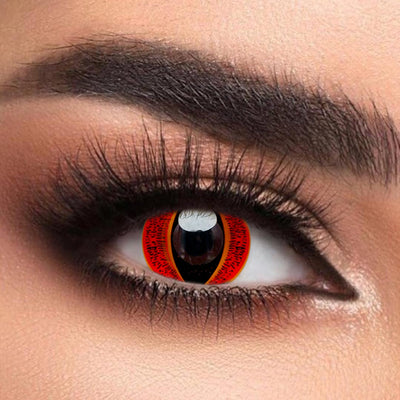 Voioc® Eye Circle Lens Best Sauron Red Colored Contact Lenses Halloween V6237