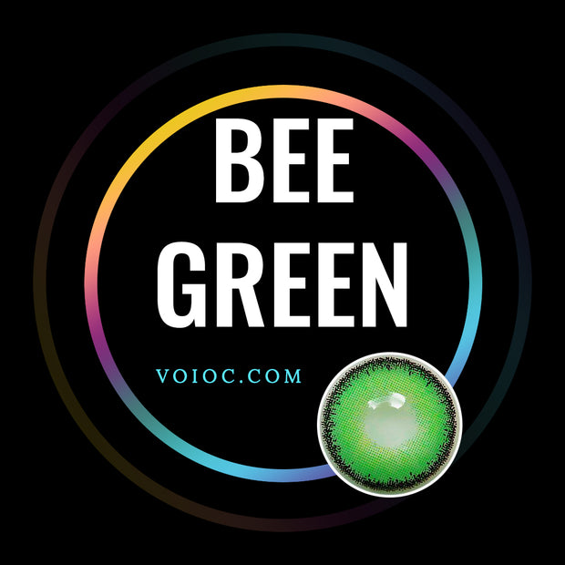 Voioc® Eye Circle Lens Bee Green Toric Colored Contact Lenses V6002 - Voioc.com
