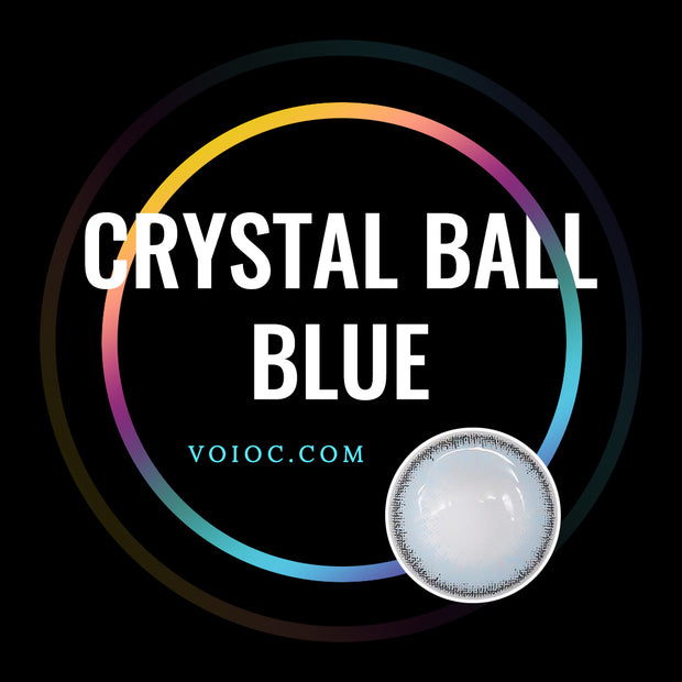 Voioc® Eye Circle Lens Crystal Ball Blue Colored Contact Lenses V6011 - Voioc.com