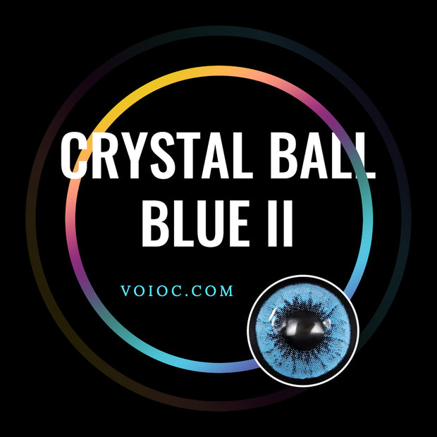 Voioc® Eye Circle Lens Crystal Ball Blue II Colored Contact Lenses V6012 - Voioc.com