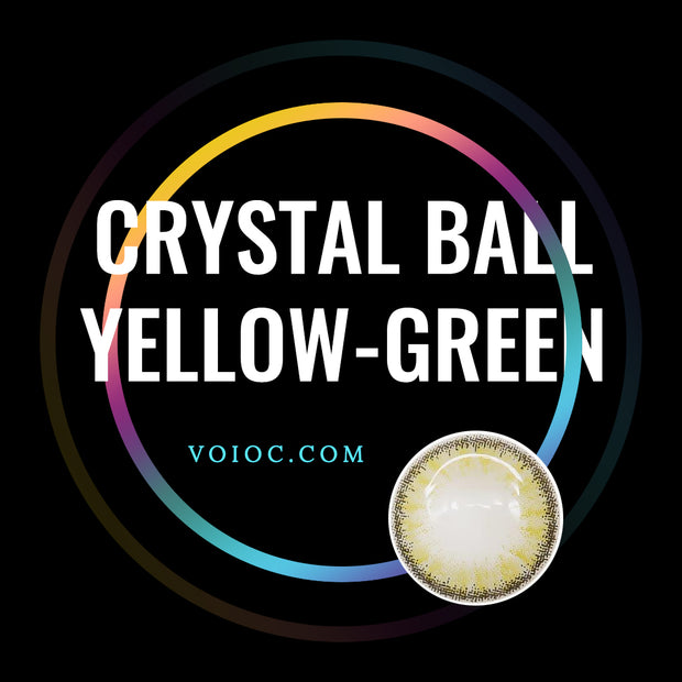 Voioc® Eye Circle Lens Crystal Ball Yellow-Green Colored Contact Lenses V6017 - Voioc.com