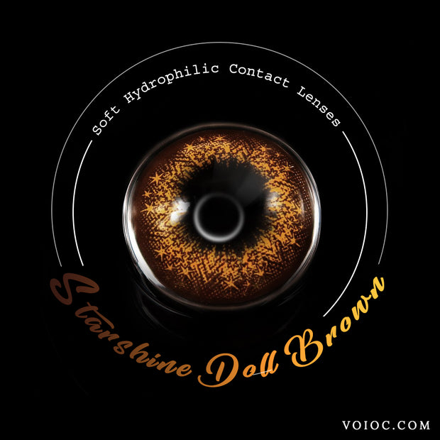 Voioc® Eye Circle Lens Starshine Doll Brown Colored Contact Lenses V6022 - Voioc.com