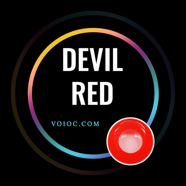 Voioc® Eye Circle Lens Devil Red Naruto Colored Contact Lenses V6032 - Voioc.com