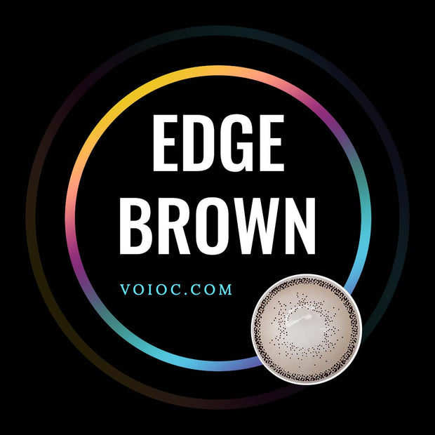 Voioc® Eye Circle Lens Edge Brown Colored Contact Lenses V6038 - Voioc.com