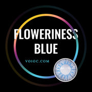 Voioc® Eye Circle Lens Floweriness Blue Colored Contact Lenses V6049 - Voioc.com