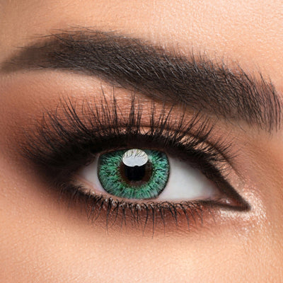 Voioc® Eye Circle Lens Floweriness Green Colored Contact Lenses V6051 - Voioc.com