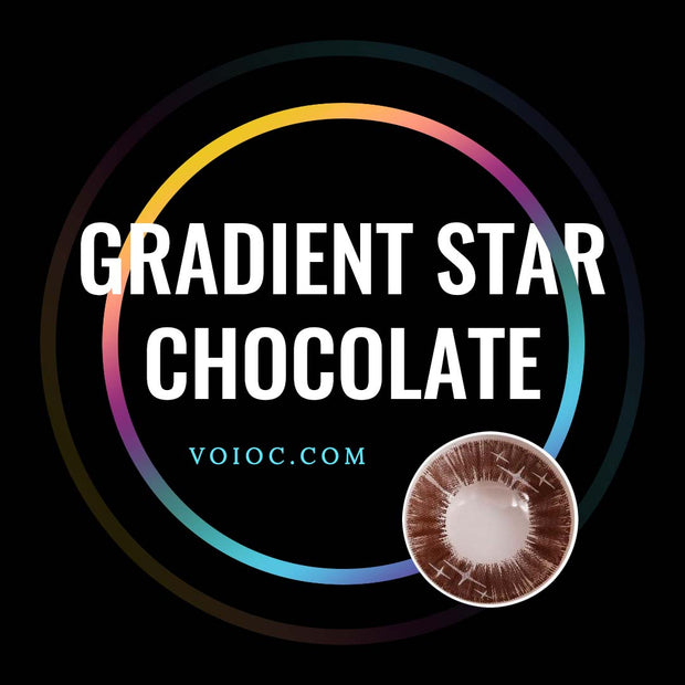 Voioc® Eye Circle Lens Gradient Star Chocolate Colored Contact Lenses V6053 - Voioc.com