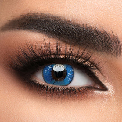 Voioc® Eye Circle Lens Gradient Star Blue Naruto Colored Contact Lenses V6064 - Voioc.com
