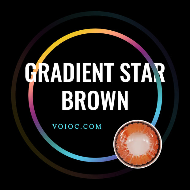Voioc® Eye Circle Lens Gradient Star Brown Colored Contact Lenses V6065 - Voioc.com