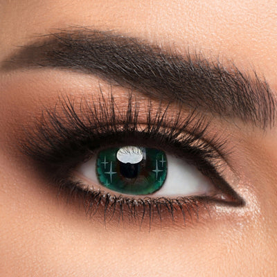 Voioc® Eye Circle Lens Gradient Star Green Colored Contact Lenses V6066 - Voioc.com