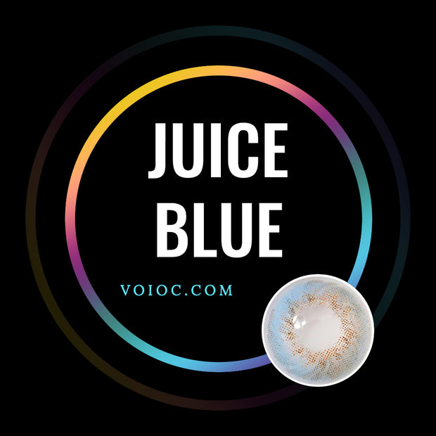 Voioc® Eye Circle Lens Juice Blue Colored Contact Lenses V6075 - Voioc.com