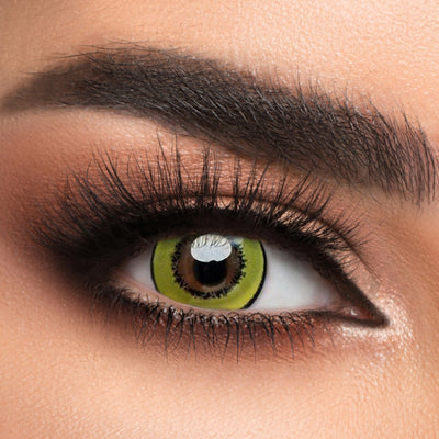 Voioc® Eye Circle Lens Magic Yellow Colored Contact Lenses V6084 - Voioc.com