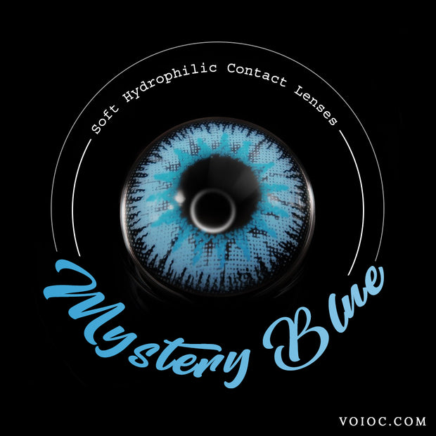 Voioc® Eye Circle Lens Mystery Blue Colored Contact Lenses V6095 - Voioc.com