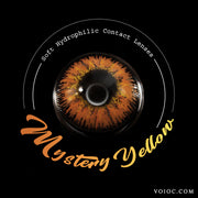 Voioc® Eye Circle Lens Mystery Yellow Colored Contact Lenses V6098 - Voioc.com