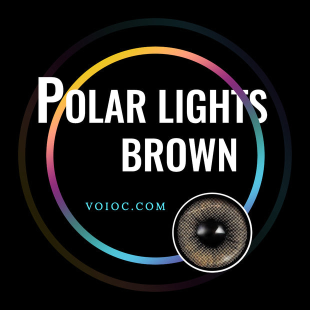 Voioc® Eye Circle Lens Polar Lights Brown Colored Contact Lenses V6108 - Voioc.com
