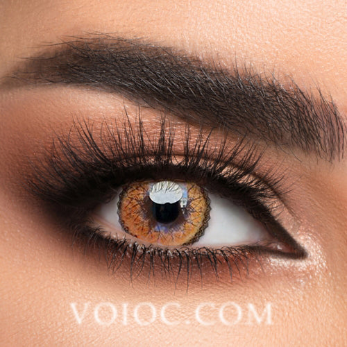 Voioc® Eye Circle Lens Muse Brown Colored Contact Lenses V6151 - Voioc.com