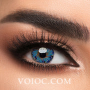 Voioc® Eye Circle Lens Lolly Blue Colored Contact Lenses V6155 - Voioc.com
