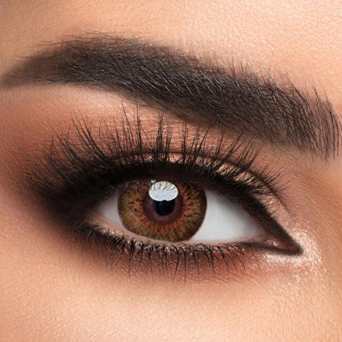 Voioc® Eye Circle Lens Glow Brown Colored Contact Lenses V6178 - Voioc.com