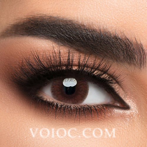 Voioc® Eye Circle Lens Lemon Brown Colored Contact Lenses V6190 - Voioc.com