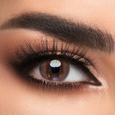 Voioc® Eye Circle Lens Amber Brown Colored Contact Lenses V6200 - Voioc.com