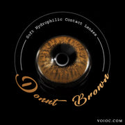 Voioc® Eye Circle Lens Donut Brown Colored Contact Lenses V6204 - Voioc.com