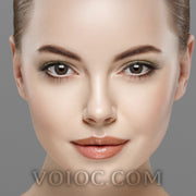 Voioc® Eye Circle Lens Sakura Blue Natural Colored Contact Lenses V6300 - Voioc.com