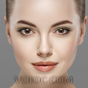 Voioc® Eye Circle Lens Sakura Brown Natural Colored Contact Lenses V6301 - Voioc.com