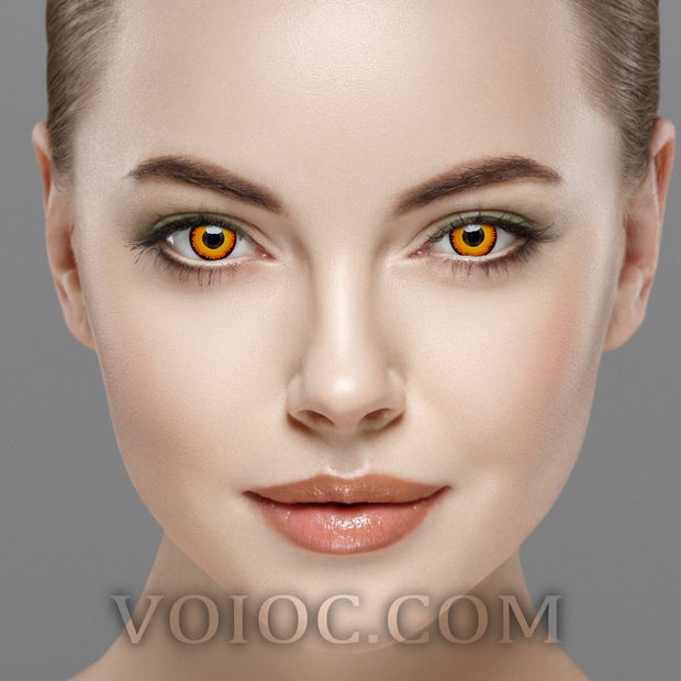 Voioc® Eye Circle Lens Werewolf Orange Colored Contact Lenses Cosplay V6241