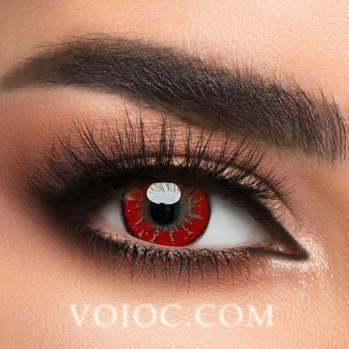 Voioc® Eye Circle Lens Akashi Seijuro Red Hazel Colored Contact Lenses V6001 - Voioc.com