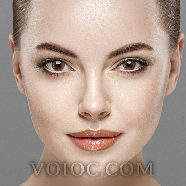Voioc® Eye Circle Lens Crystal Ball Caramel Brown Colored Contact Lenses V6014 - Voioc.com