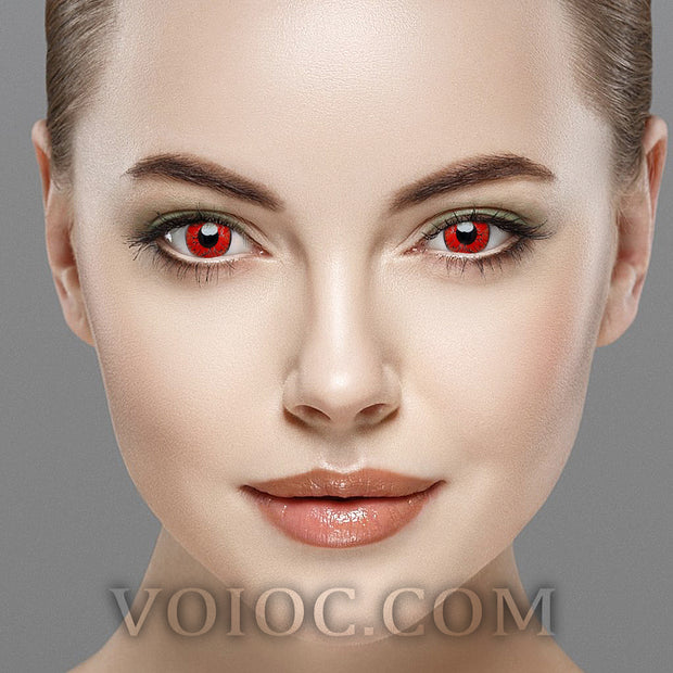 Voioc® Eye Circle Lens Dangerous Ruby Naruto Colored Contact Lenses V6019 - Voioc.com