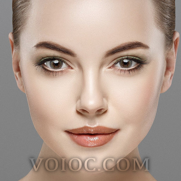 Voioc® Eye Circle Lens Sunflower Brown Colored Contact Lenses V6024 - Voioc.com