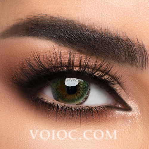 Voioc® Eye Circle Lens Edge Yellow-Green Colored Contact Lenses V6040 - Voioc.com