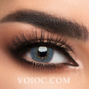 Voioc® Eye Circle Lens Euramerican Blue Colored Contact Lenses V6042 - Voioc.com