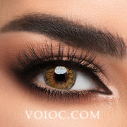 Voioc® Eye Circle Lens Floweriness Brown Colored Contact Lenses V6050 - Voioc.com