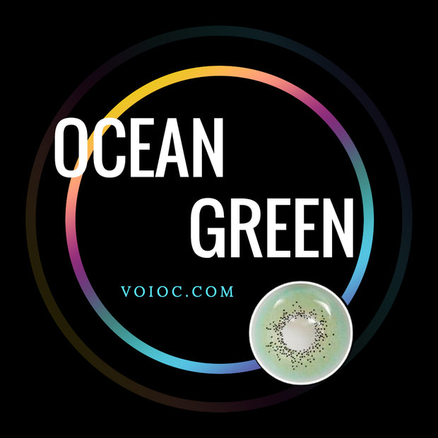 Voioc® Eye Circle Lens Ocean Green Colored Contact Lenses V6102 - Voioc.com