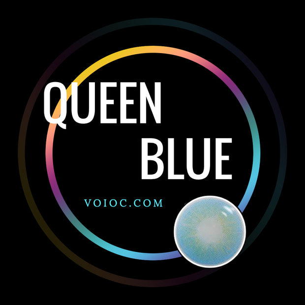 Voioc® Eye Circle Lens Queen Blue Colored Contact Lenses V6114 - Voioc.com