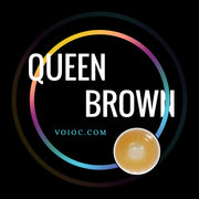 Voioc® Eye Circle Lens Queen Brown Colored Contact Lenses V6115 - Voioc.com