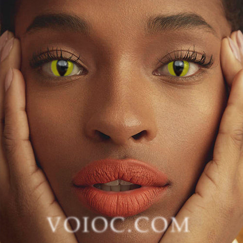 Voioc® Eye Circle Lens Reptile Glow Colored Contact Lenses V6125 - Voioc.com