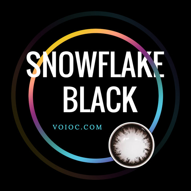Voioc® Eye Circle Lens Snowflake Black Colored Contact Lenses V6131 - Voioc.com
