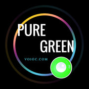 Voioc® Eye Circle Lens Pure Green Naruto Colored Contact Lenses V6135 - Voioc.com