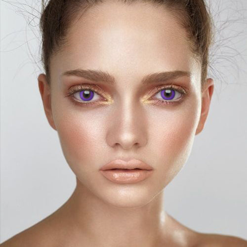 Voioc® Eye Circle Lens Pure Purple Colored Contact Lenses V6136 - Voioc.com