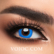 Voioc® Eye Circle Lens Pure Blue Colored Contact Lenses V6137 - Voioc.com