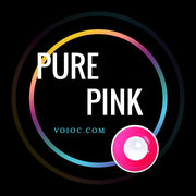 Voioc® Eye Circle Lens Pure Pink Colored Contact Lenses V6138 - Voioc.com