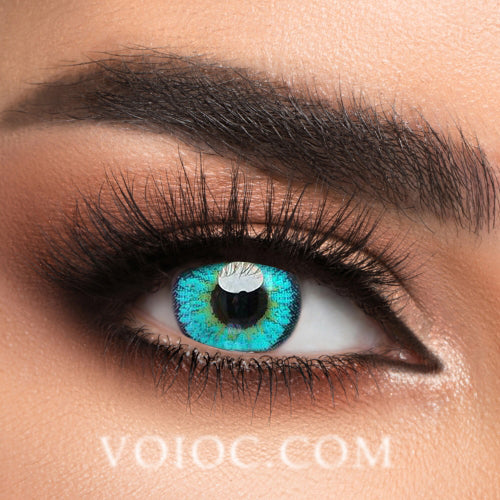 Voioc® Eye Circle Lens Elf Green Naruto Colored Contact Lenses V6139 - Voioc.com